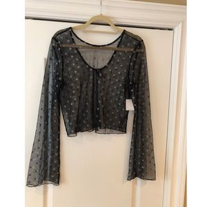 Out From Under- Sheer Star Top